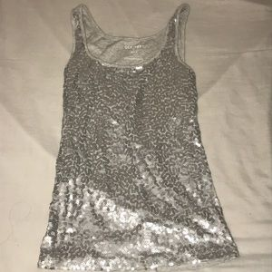 Silver sequined top 💎